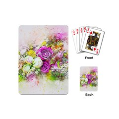 Flowers Bouquet Art Nature Playing Cards (mini)