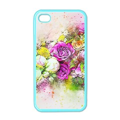 Flowers Bouquet Art Nature Apple Iphone 4 Case (color)