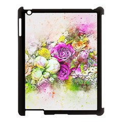 Flowers Bouquet Art Nature Apple Ipad 3/4 Case (black)