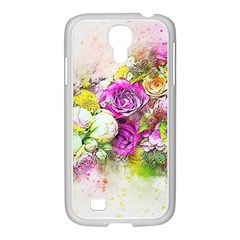Flowers Bouquet Art Nature Samsung Galaxy S4 I9500/ I9505 Case (white)