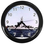 USS Huse Pic Wall Clock (Black)
