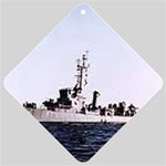 USS Huse Pic Car Window Sign