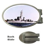 USS Huse Pic Money Clip (Oval)