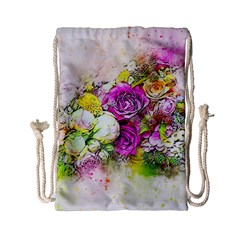 Flowers Bouquet Art Nature Drawstring Bag (small)