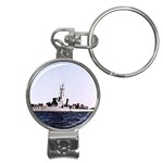 USS Huse Pic Nail Clippers Key Chain