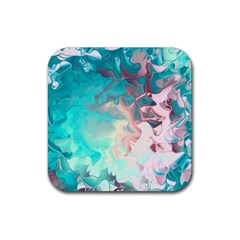 Background Art Abstract Watercolor Rubber Coaster (square)