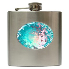 Background Art Abstract Watercolor Hip Flask (6 Oz)