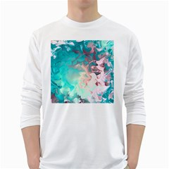 Background Art Abstract Watercolor White Long Sleeve T Shirts
