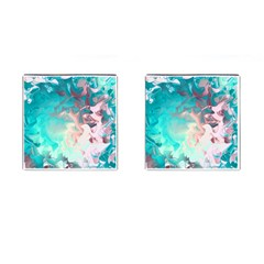 Background Art Abstract Watercolor Cufflinks (square)