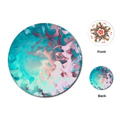 Background Art Abstract Watercolor Playing Cards (round)
