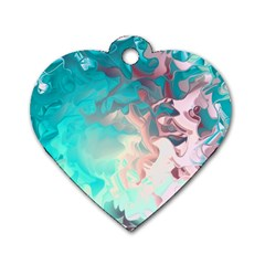 Background Art Abstract Watercolor Dog Tag Heart (two Sides)