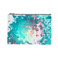 Background Art Abstract Watercolor Cosmetic Bag (large)