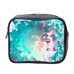 Background Art Abstract Watercolor Mini Toiletries Bag 2 Side