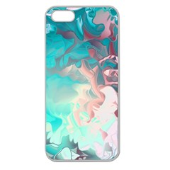 Background Art Abstract Watercolor Apple Seamless Iphone 5 Case (clear) by Nexatart