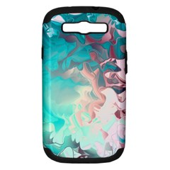 Background Art Abstract Watercolor Samsung Galaxy S Iii Hardshell Case (pc+silicone)
