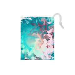Background Art Abstract Watercolor Drawstring Pouches (small)