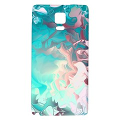Background Art Abstract Watercolor Galaxy Note 4 Back Case by Nexatart
