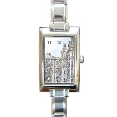 Architecture Building Design Rectangle Italian Charm Watch