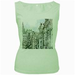 Architecture Building Design Women s Green Tank Top