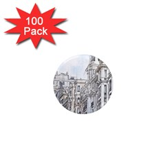 Architecture Building Design 1  Mini Magnets (100 Pack)