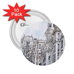 Architecture Building Design 2 25  Buttons (10 Pack)