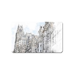 Architecture Building Design Magnet (name Card) by Nexatart