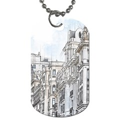 Architecture Building Design Dog Tag (two Sides)