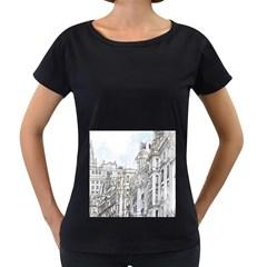 Architecture Building Design Women s Loose Fit T Shirt (black)