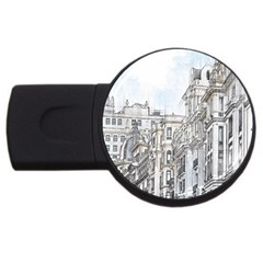 Architecture Building Design Usb Flash Drive Round (4 Gb)