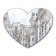 Architecture Building Design Heart Mousepads