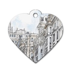 Architecture Building Design Dog Tag Heart (one Side)