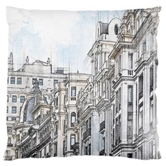 Architecture Building Design Large Cushion Case (two Sides)