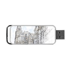 Architecture Building Design Portable Usb Flash (two Sides)