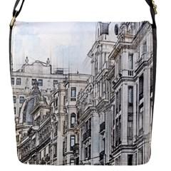 Architecture Building Design Flap Messenger Bag (s) by Nexatart