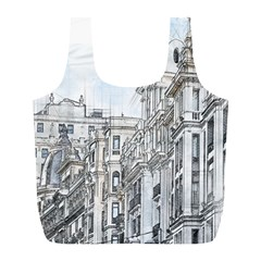 Architecture Building Design Full Print Recycle Bags (l)