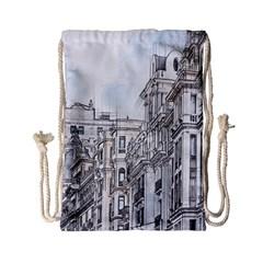 Architecture Building Design Drawstring Bag (small)