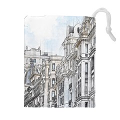 Architecture Building Design Drawstring Pouches (extra Large)