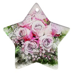 Flowers Bouquet Art Nature Ornament (star)