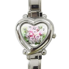 Flowers Bouquet Art Nature Heart Italian Charm Watch