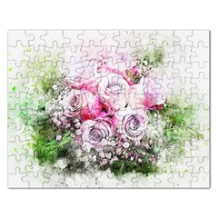 Flowers Bouquet Art Nature Rectangular Jigsaw Puzzl