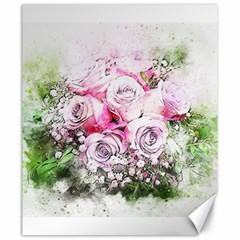 Flowers Bouquet Art Nature Canvas 20  X 24