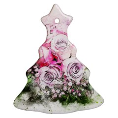 Flowers Bouquet Art Nature Christmas Tree Ornament (two Sides)