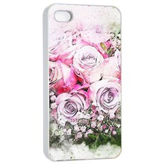 Flowers Bouquet Art Nature Apple Iphone 4/4s Seamless Case (white)