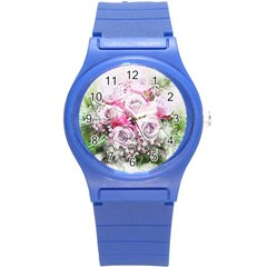 Flowers Bouquet Art Nature Round Plastic Sport Watch (s)