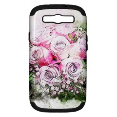 Flowers Bouquet Art Nature Samsung Galaxy S Iii Hardshell Case (pc+silicone)