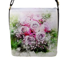 Flowers Bouquet Art Nature Flap Messenger Bag (l)