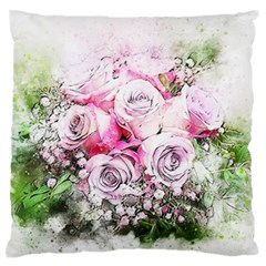 Flowers Bouquet Art Nature Standard Flano Cushion Case (one Side)