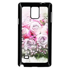Flowers Bouquet Art Nature Samsung Galaxy Note 4 Case (black)