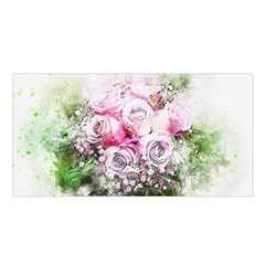 Flowers Bouquet Art Nature Satin Shawl