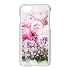 Flowers Bouquet Art Nature Apple Iphone 7 Seamless Case (white)